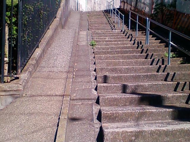 まさ行くかい?階段!