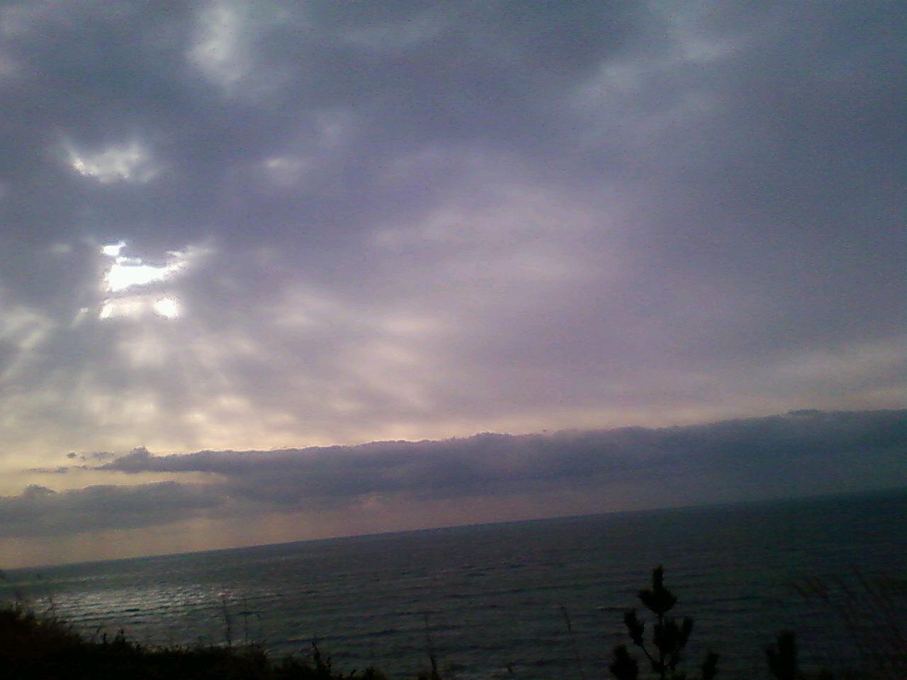 大平洋を望む
