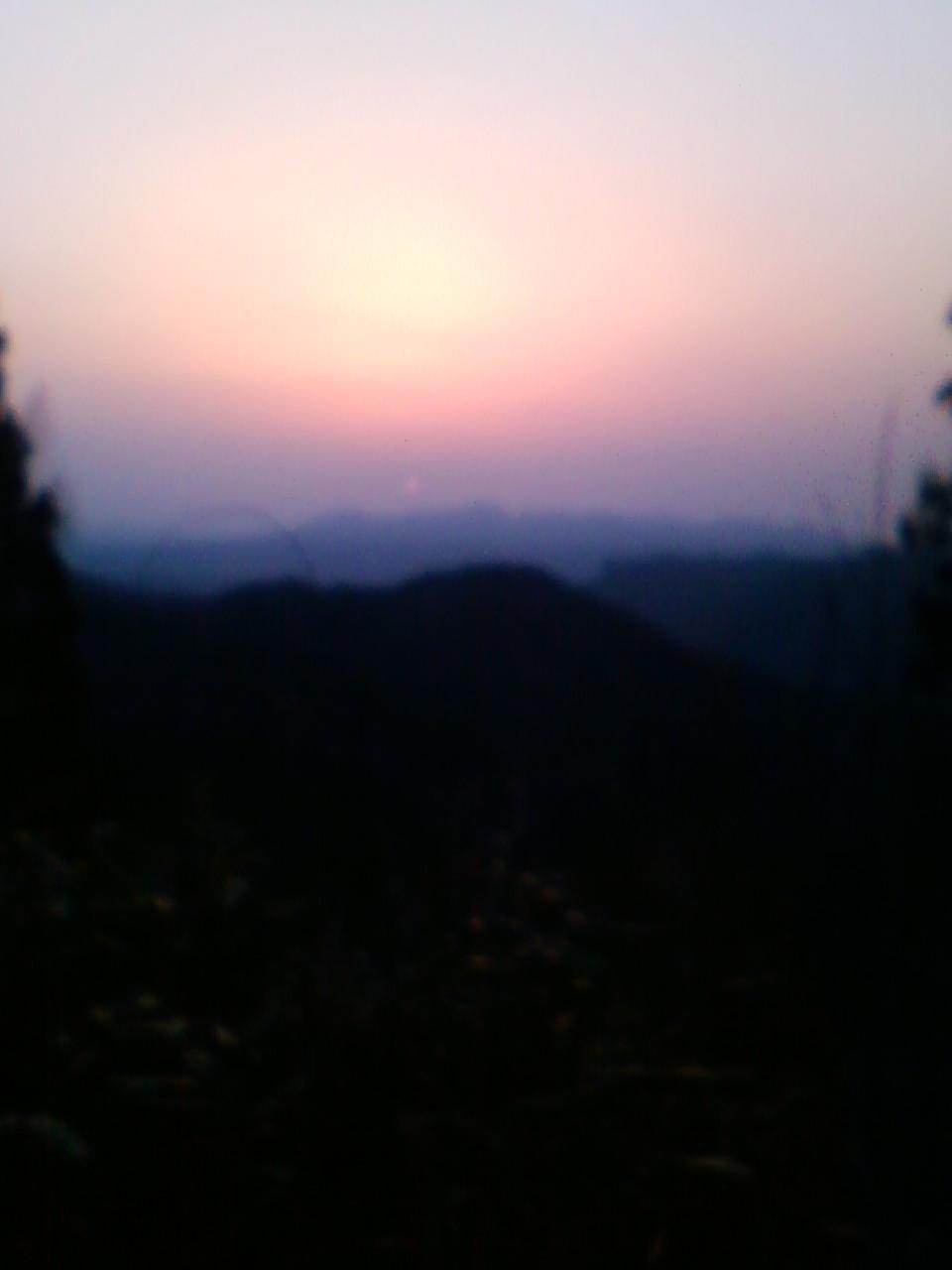 二度上げ峠の夜明け