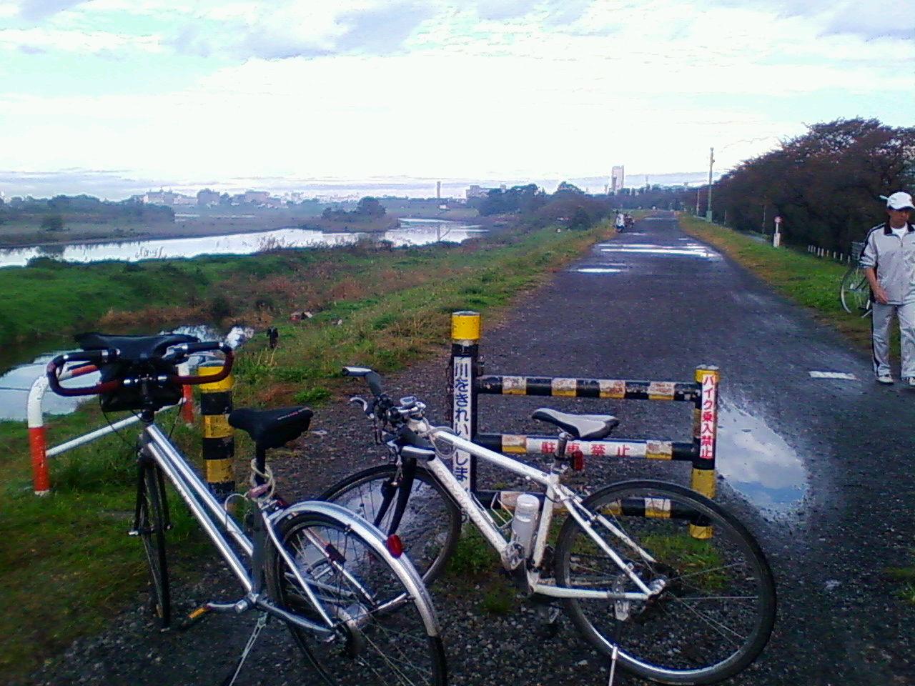 今朝の多摩川